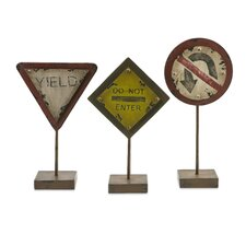 Tabletop Street Signs (Set of 3)