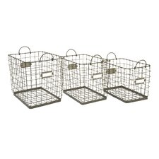 3 Piece Newbridge Wire Storage Basket Set