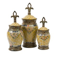 Vallarta Ceramic Canister (Set of 3)