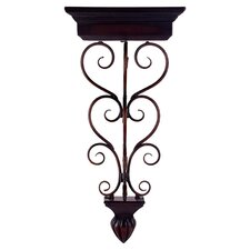 Iron Scrollwork Wall Shelf