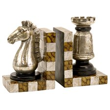 Two Piece Chess Book Ends (Set of 2)