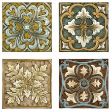 4 Piece Casa Medallion Tiles Wall Décor Set