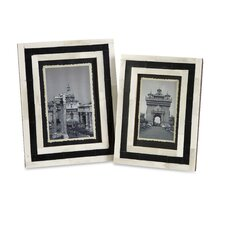 <strong>IMAX</strong> Bella Bone Inlay Picture Frame (Set of 2)