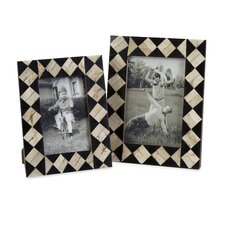 Lanta Bone Inlay Picture Frame (Set of 2)