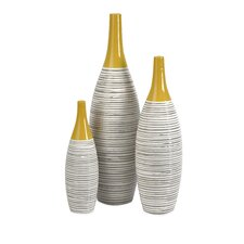 Andean Multi 3 Piece Glaze Vase Set