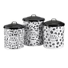 Dog Food Storage Canister (Set of 3)