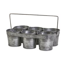 6 Flower Round Pot Caddy