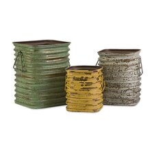 <strong>IMAX</strong> Lestano Metal Container (Set of 3)