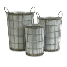 Chandler Metal Flower Vases (Set of 3)