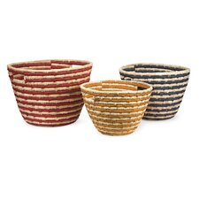 Carmen Sea Grass Catch-All Basket (Set of 3)