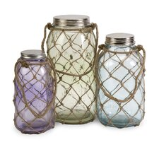 Marci Decorative Glass Jar (Set of 3)