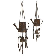 Watering Can Wind Chime (Set of 2)