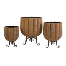 Bowman Scalloped Round Planter (Set of 3)