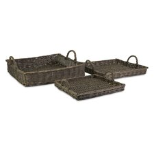 Olivia Willow Trays (Set of 3)