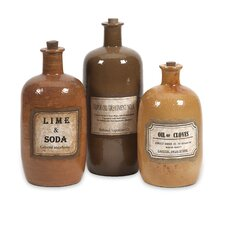 Easton Decorative Medicine Bottle (Set of 3)