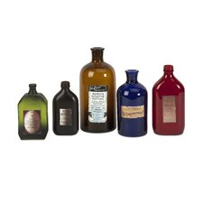 5 Piece Ballister Medicine Decorative Bottle Set