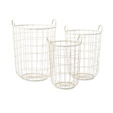 <strong>IMAX</strong> Dylan Wire Storage Baskets (Set of 3)