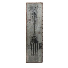 Galvanized Magnetic Fork Wall Decor