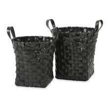 <strong>IMAX</strong> Carswell Recycled Tire Baskets (Set of 2)