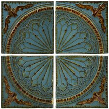 Blue Quarter Medallion Wall Panel (Set of 4)
