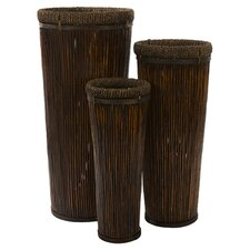 Langham Tall Round Planters (Set of 3)