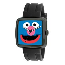 Grover Rubber Strap Watch in Black