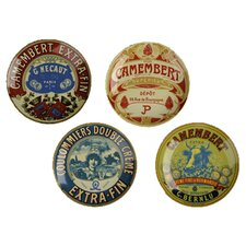 BIA Boxed Camembert Plate (Set of 4)