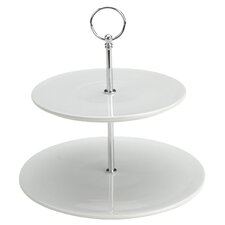 Bia Flat Two Tier Cake Stand