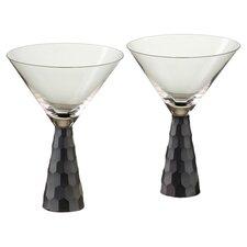 Artland Prescott Martini Glass in Black (Set of 2)