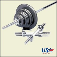 110 lbs Standard threaded weight set in Gray