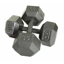 20 Piece Cast Iron Hex Dumbbell Set