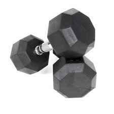 10 lbs Rubber Encased Octagonal Dumbbells