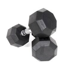 15 lbs Rubber Encased Octagonal Dumbbell (Set of 2)