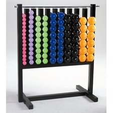 Vinyl Dumbbell Aerobic Pac with Rack