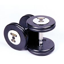 10 lbs Pro-Style Cast Dumbbells in Black (Set of 2)