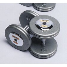10 lbs Pro-Style Cast Dumbbells in Gray (Set of 2)
