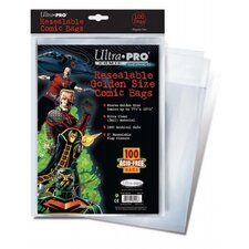 "7.75"" x 10.5"" Resealable Golden Comic Bags"
