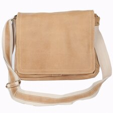 Distressed North South Laptop Messenger Bag