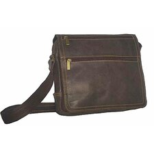 <strong>David King</strong> Distressed Messenger Bag