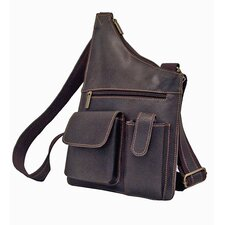 Cross Body Bag in Distressed Leather