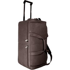 "20"" Leather 2-Wheeled Travel Duffel"