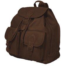 Flap Top Double Front Pocket Sling Bag