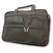 Leather Laptop Organizer Briefcase
