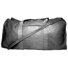 "25"" Leather Travel Duffel"