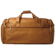 "<strong>David King</strong> 20.5"" Leather Multi Pocket Travel Duffel"