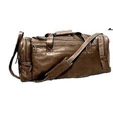 "19"" Leather Classic Travel Duffel Bag"