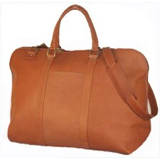 "19"" Large Opening Leather Travel Duffel"