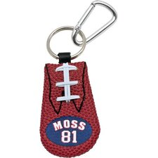 NFL Leather Football Classic Key Chain - Randy Moss - New England Patriots