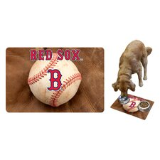 MLB Baseball Pet Bowl Mat