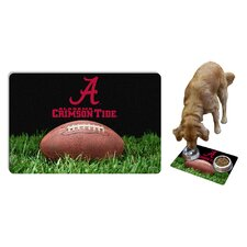 NCAA Classic Football Pet Bowl Mat